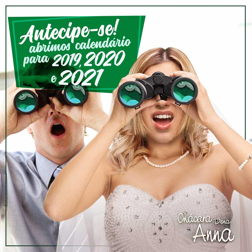 Abrimos Calendário de 2019 a 2021! 3