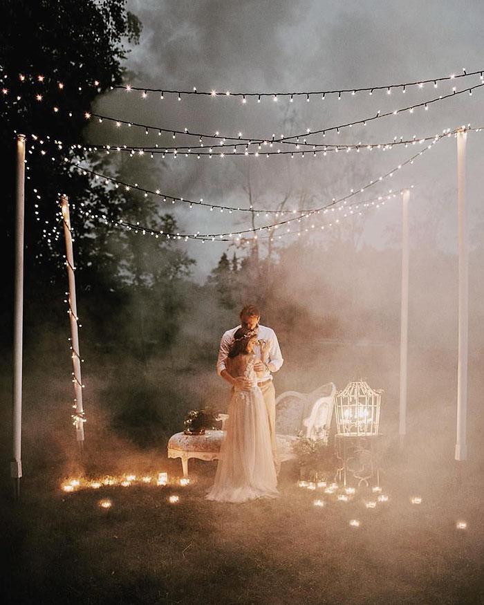 As Melhores Fotos Noturnas de Casamento 16
