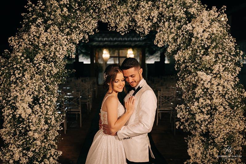 80 fotos de casamento à noite na Chácara Dona Anna! 80
